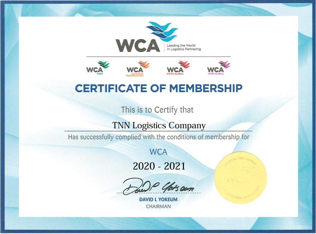 02/10/2020 – TNN Logistics Co. became a member of WCA